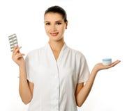 Cosmetologist alegre Imágenes de archivo libres de regalías
