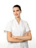 Cosmetologist alegre Imagen de archivo libre de regalías