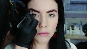 Cosmetologist wyciąga brwi zbiory wideo