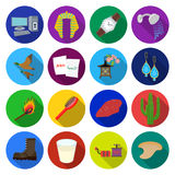 Cosmetology, fast foodand other web icon in flat style.leisure, travel, hygiene,icons in set collection. Royalty Free Stock Photo