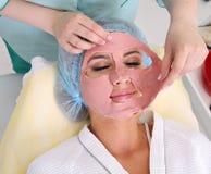 Cosmetology, Gesichtsmaske Stockfotografie