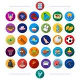 Cosmetology, historia, ekologi och annan rengöringsduksymbol i plan stil , bio, fritid, hobbysymboler i uppsättningsamling vektor illustrationer