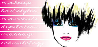 Cosmetology.makeup.hairstyles Imagem de Stock Royalty Free