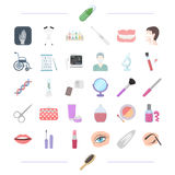 Cosmetology, makeup and other web icon in cartoon style. Stock Images