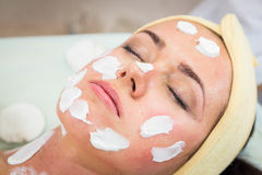 Cosmetology spa facial Royalty Free Stock Images