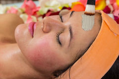 Cosmetology spa facial Stock Image