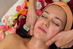 Cosmetology spa facial Stock Photo