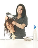 Cosmetology Student Enjoying Her Class Stock Image