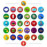 Cosmetology, weddings, tourism and other web icon in flat style.bank, animals, jewelry, icons in set collection. Royalty Free Stock Photos