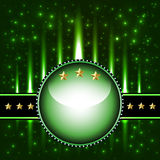 Cosmic background circle and stars Royalty Free Stock Photo