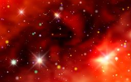 Cosmic background galaxies, nebula and shining stars Stock Photography