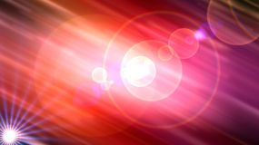 Cosmic background. Sun and rays on the one side illuminate the other particles of cosmic elements, in a continuous interaction Royalty Free Stock Photos