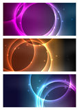 Cosmic Banners. For web or print Royalty Free Stock Image