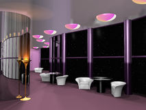 Cosmic cafe interior Stock Image