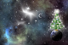 Cosmic Christmas Stock Images