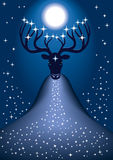 Cosmic Christmas deer Stock Photography