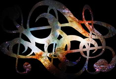 Cosmic clef on black background. Music concept. Copy space. Royalty Free Stock Photography