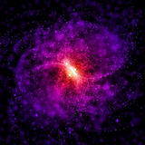 Cosmic color dust cloud nebula Royalty Free Stock Images