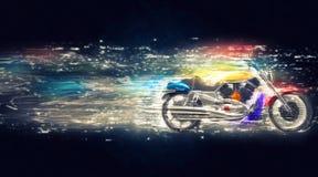 Cosmic colorful bike Stock Photo