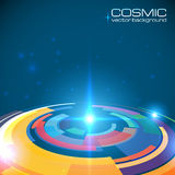 Cosmic colorful shining disc abstract Stock Image