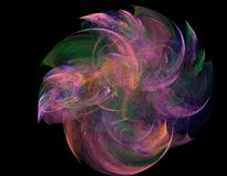 The cosmic colorful whirlwind. The Abstract digital creation The cosmic whirlwind on the black background Royalty Free Stock Photography