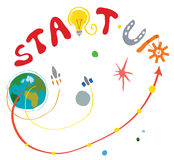 Cosmic concept for fast business start up Stock Photo