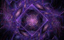 Cosmic crystal lilac with flower in the middle Stock Photography