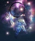 Cosmic Dreamcatcher design stock illustration