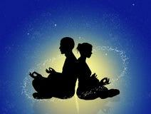 Cosmic energy. Illustration of cosmic energy couple Royalty Free Stock Photos
