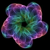 Cosmic flower. Very detailed high quality 9mpix render royalty free illustration