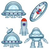Cosmic flying machines Stock Photo
