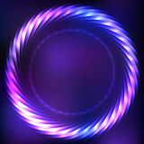 Cosmic frame on purple blurred background. Abstract background with colorful plasma circle effect royalty free illustration