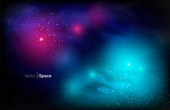 Cosmic Galaxy Background royalty free illustration