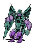 Cosmic gargoyle comic book illustration Royalty Free Stock Photography