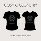 Cosmic Geometry T-Shirt Royalty Free Stock Photos