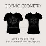 Cosmic Geometry T-Shirt Royalty Free Stock Image