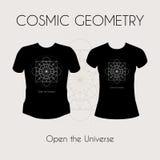 Cosmic Geometry T-Shirt Stock Photo