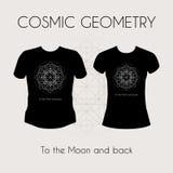 Cosmic Geometry T-Shirt Stock Image