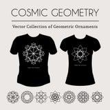 Cosmic Geometry T-Shirt Stock Images