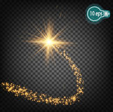 Cosmic glow,Christmas star. Royalty Free Stock Image