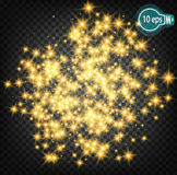 Cosmic glow, Christmas star. In distant space. Concept design for star nebulae isolated on a transparent background. Illustration Royalty Free Stock Images