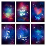 Cosmic greeting card Royalty Free Stock Photo
