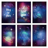 Cosmic greeting card Royalty Free Stock Photography