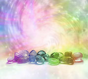 Cosmic Healing Crystals royalty free stock images