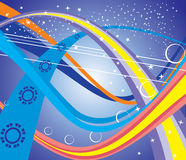 Cosmic highway . Cosmic highway drifting away into some distant future is . Vector Stock Photos