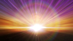 Cosmic Horizon Light Burst Loop stock video footage