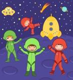 Cosmic kids Stock Photo