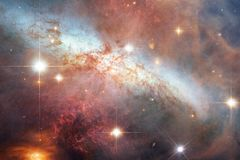 Cosmic landscape, awesome science fiction wallpaper with endless outer space. Elements of this image furnished by NASA stock image