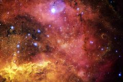 Cosmic landscape, colorful science fiction wallpaper with endless outer space. Elements of this image furnished by NASA royalty free stock photos
