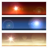 Cosmic Landscapes Set Royalty Free Stock Image